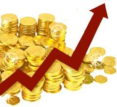 un continuo sali e scendi del prezzo oro
