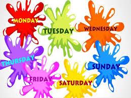 giorni della settimana in inglese pronuncia